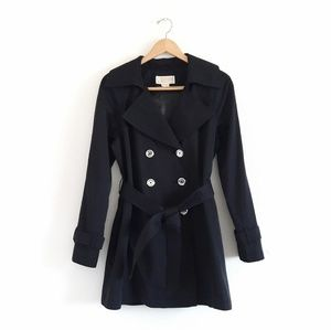 Michael Kors Black Double Breasted Trench Coat